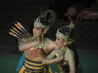 Here are the hero and heroine Rama and Sinta. After winning the woman